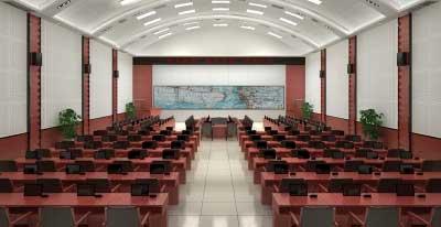 军区某部会议厅